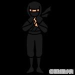 呪文を唱える忍者のイラスト