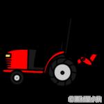 赤いトラクターのイラスト