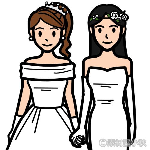女性カップルの同性婚