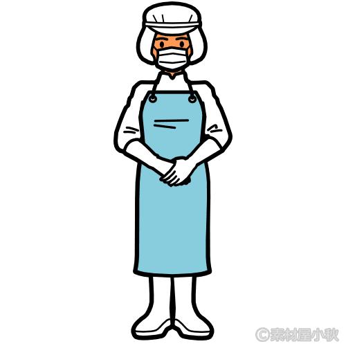 食品工場の外国人労働者(女性)