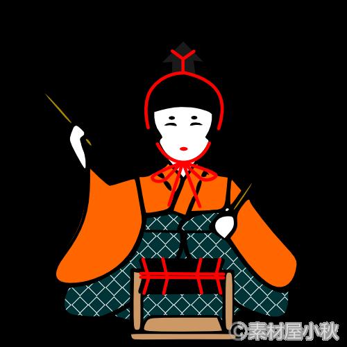 五人囃子のイラスト 素材屋小秋