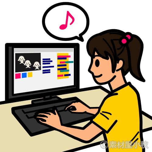 プログラミングが得意な小学生女子