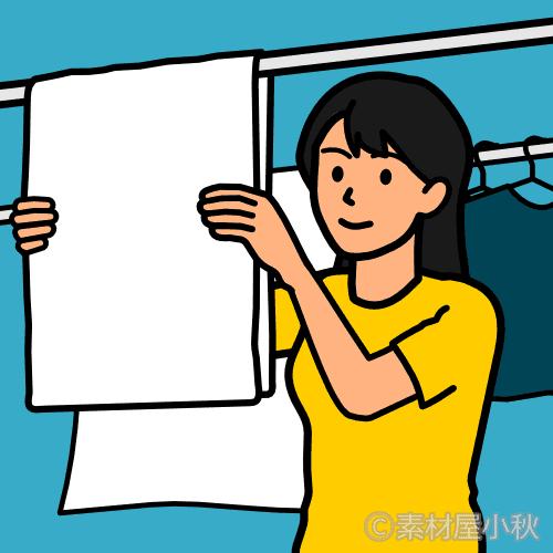 一本のシワもなく洗濯物を干すのが生きがいの女性